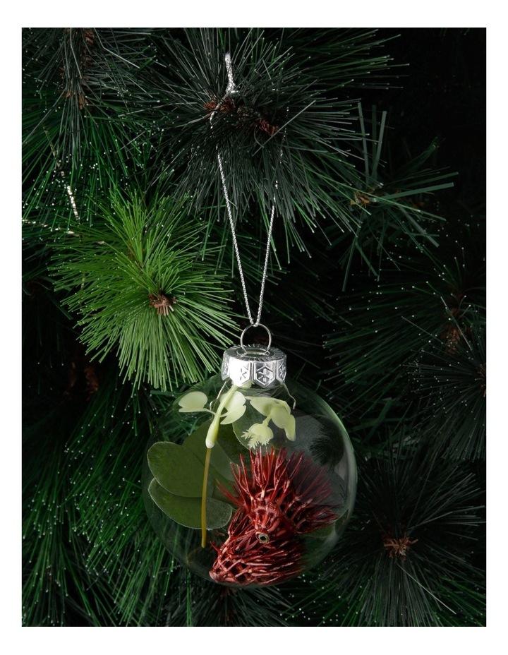8cm Eucalyptus Glass Faux Flowering Gum-Nut Filled Bauble Ornament image 3