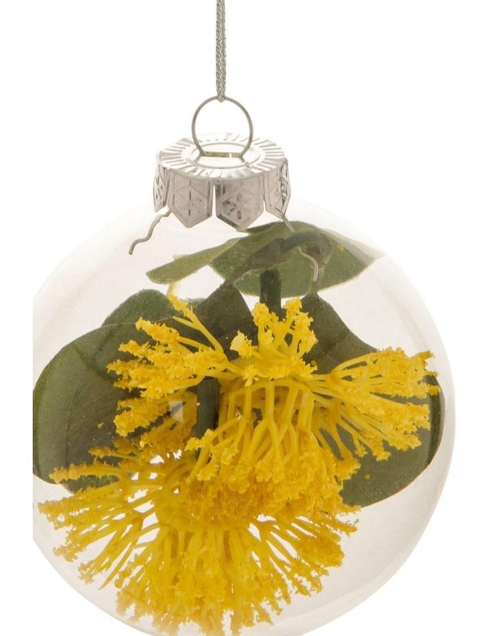 8cm Eucalyptus Glass Faux Myrtle Filled Bauble Ornament image 2