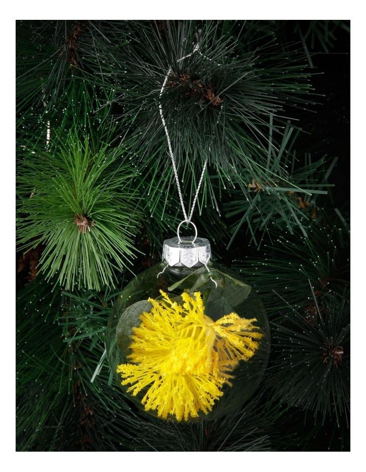 8cm Eucalyptus Glass Faux Myrtle Filled Bauble Ornament image 3