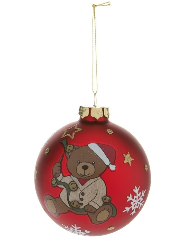 Heirloom Boxed Gilbert 2020 Teddy Decal Bauble image 1