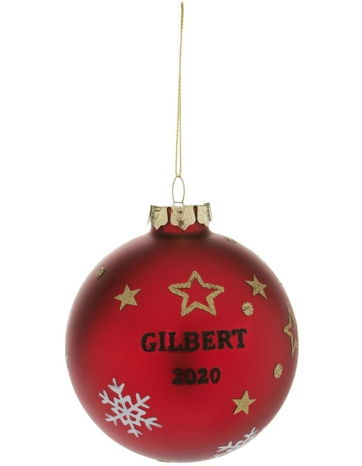 Heirloom Boxed Gilbert 2020 Teddy Decal Bauble image 3