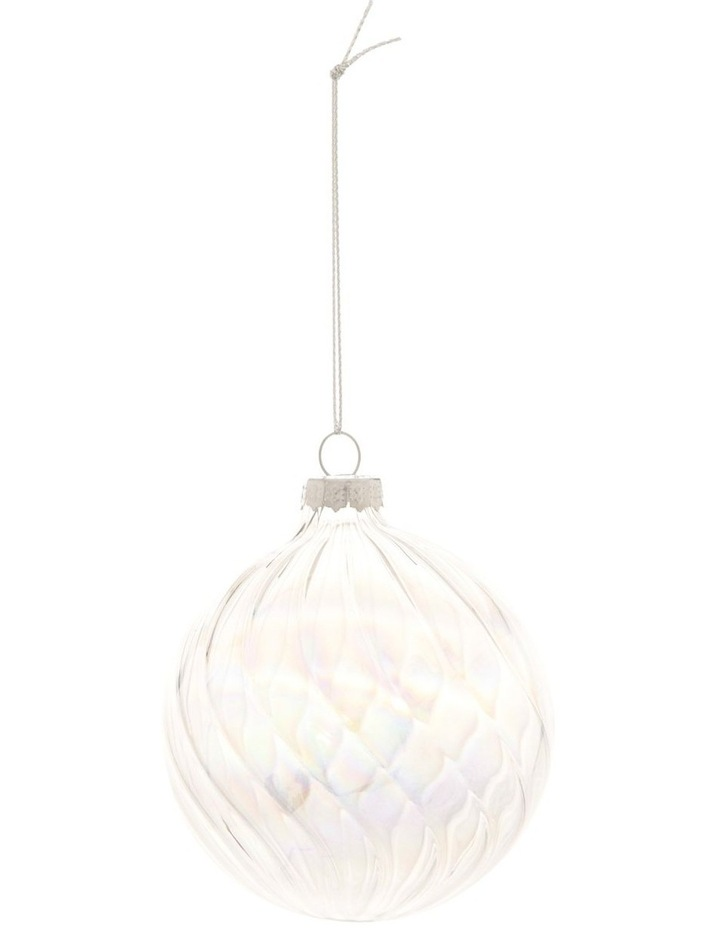 Luxe Swirled Glass Bauble Ornament 8cm image 1