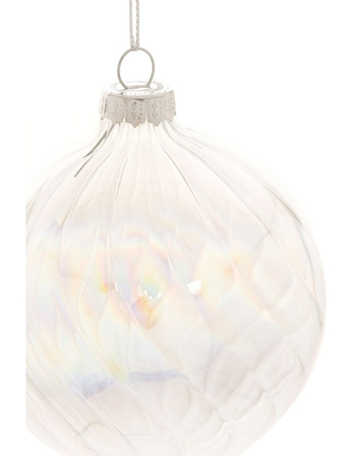 Luxe Swirled Glass Bauble Ornament 8cm image 2