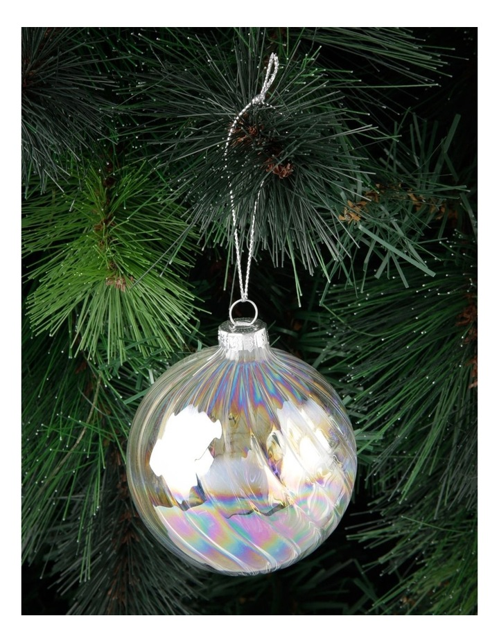 Luxe Swirled Glass Bauble Ornament 8cm image 3