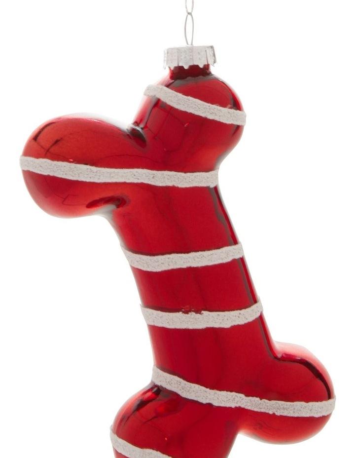 Merry & Bright Striped Bone Hanging Ornament image 2