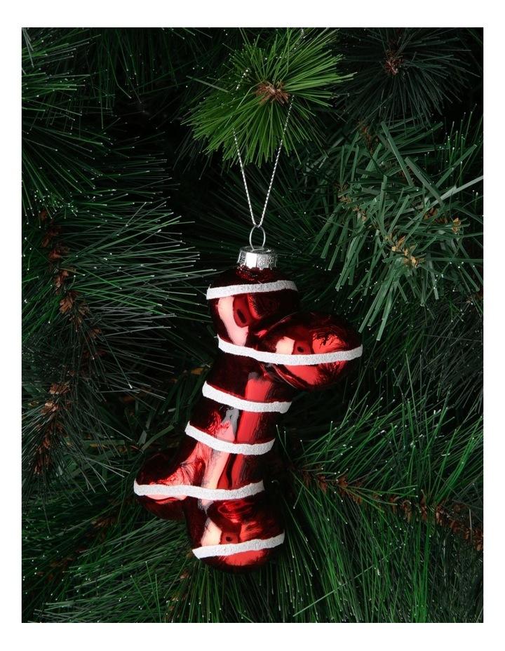 Merry & Bright Striped Bone Hanging Ornament image 3