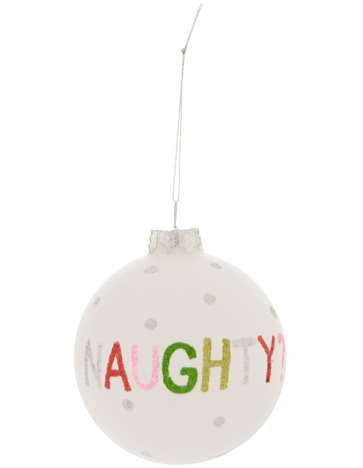 Merry & Bright Naughty or Nice Bauble image 1