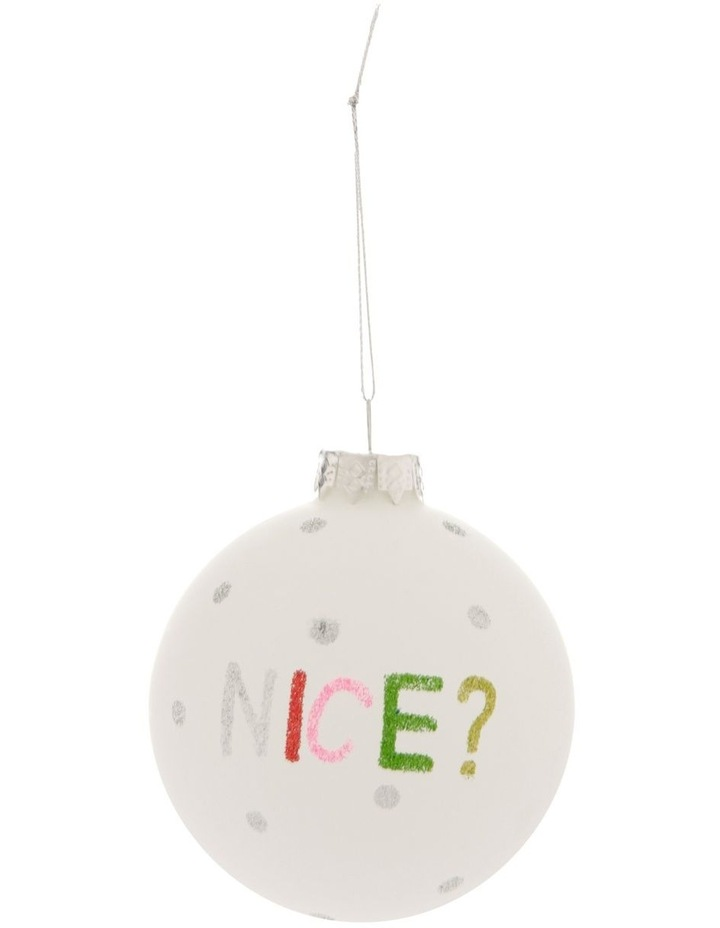 Merry & Bright Naughty or Nice Bauble image 2