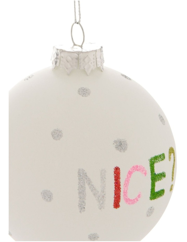 Merry & Bright Naughty or Nice Bauble image 3