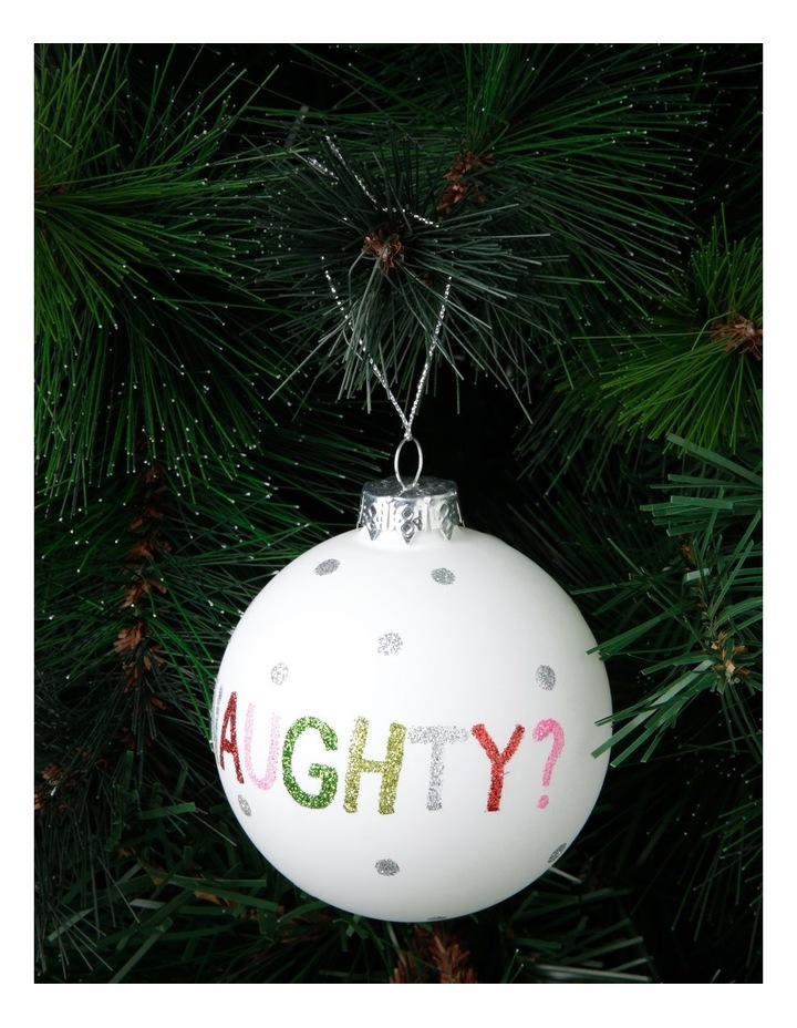 Merry & Bright Naughty or Nice Bauble image 4