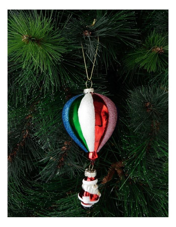 Merry & Bright Hot Air Balloon Santa Hanging Ornament image 3