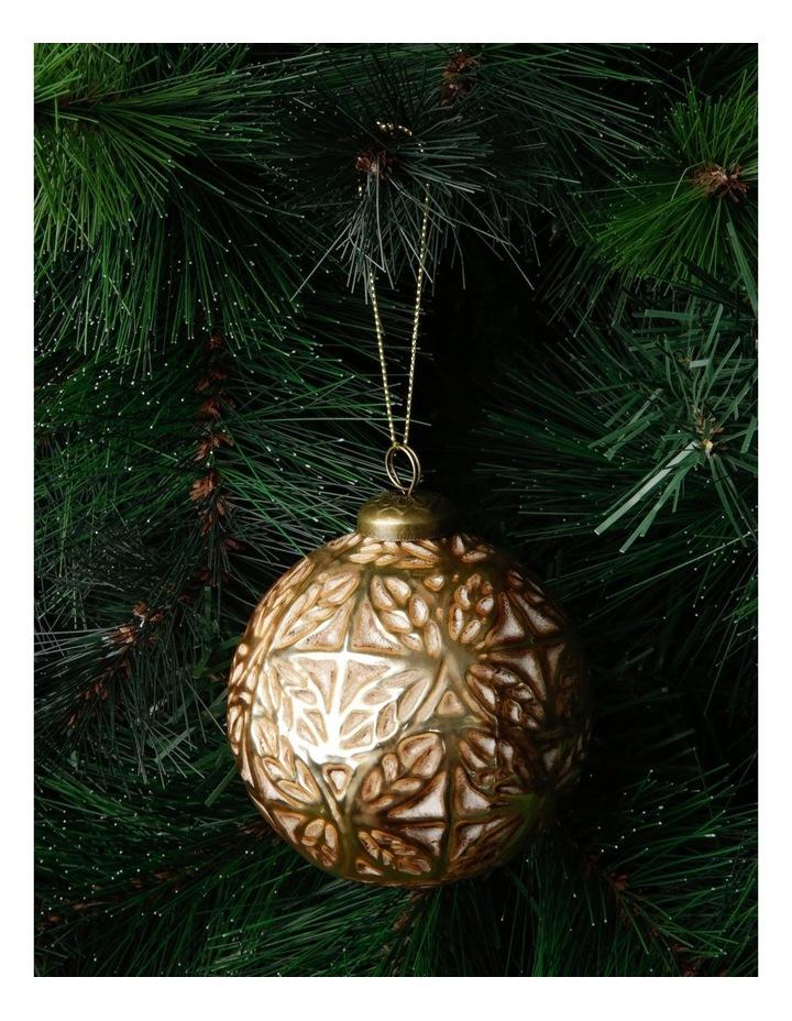 Heirloom Gold Antiqued Embossed Snowflake Bauble image 3
