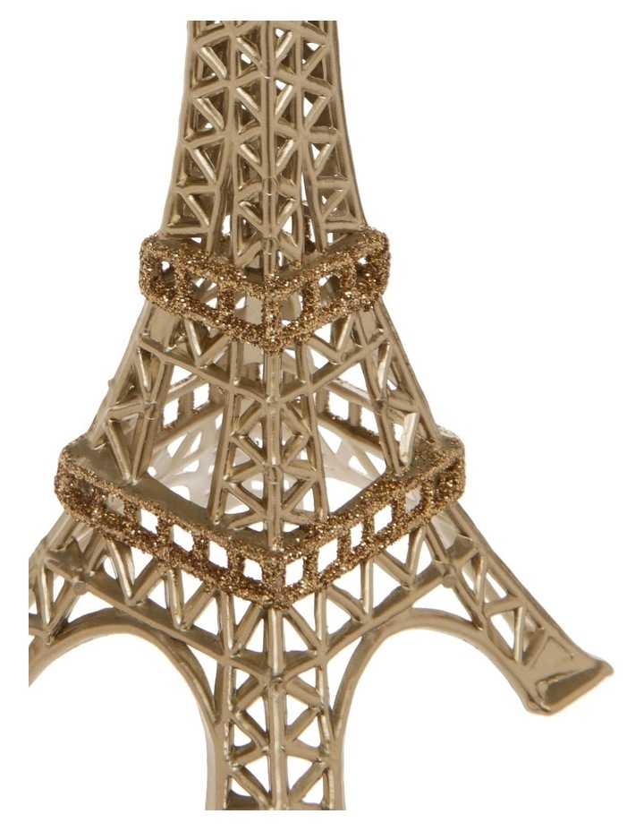 Luxe Plastic Eiffel Tower Hanging Ornament: Gold- 14 cm image 2