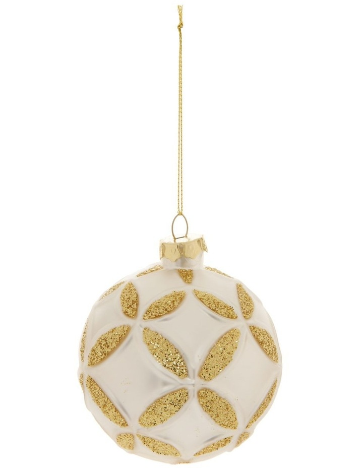 Eucalyptus Metal Bus with Tree Hanging Decoration- White: 9cm image 1