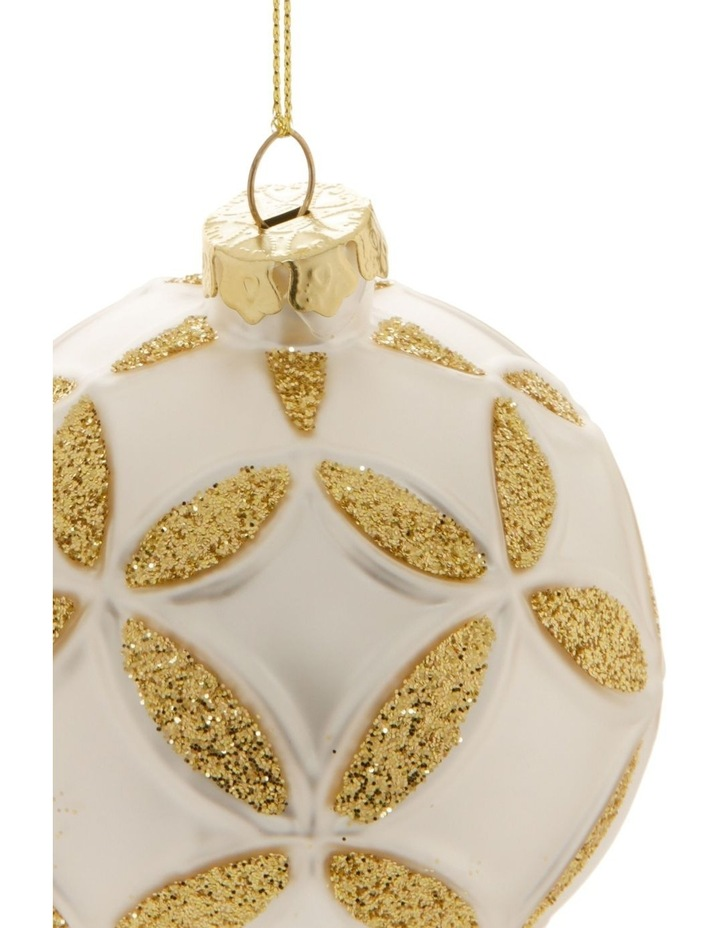 Eucalyptus Metal Bus with Tree Hanging Decoration- White: 9cm image 2