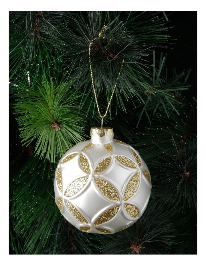 Eucalyptus Metal Bus with Tree Hanging Decoration- White: 9cm image 3