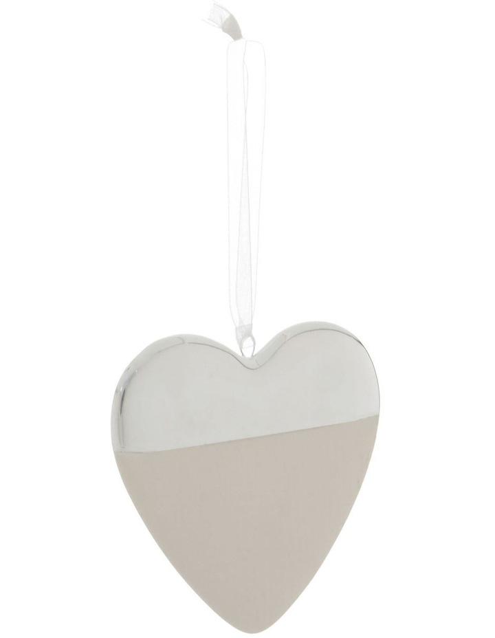 Eucalyptus Ceramic Half-Dipped Heart Hanging Ornament image 1