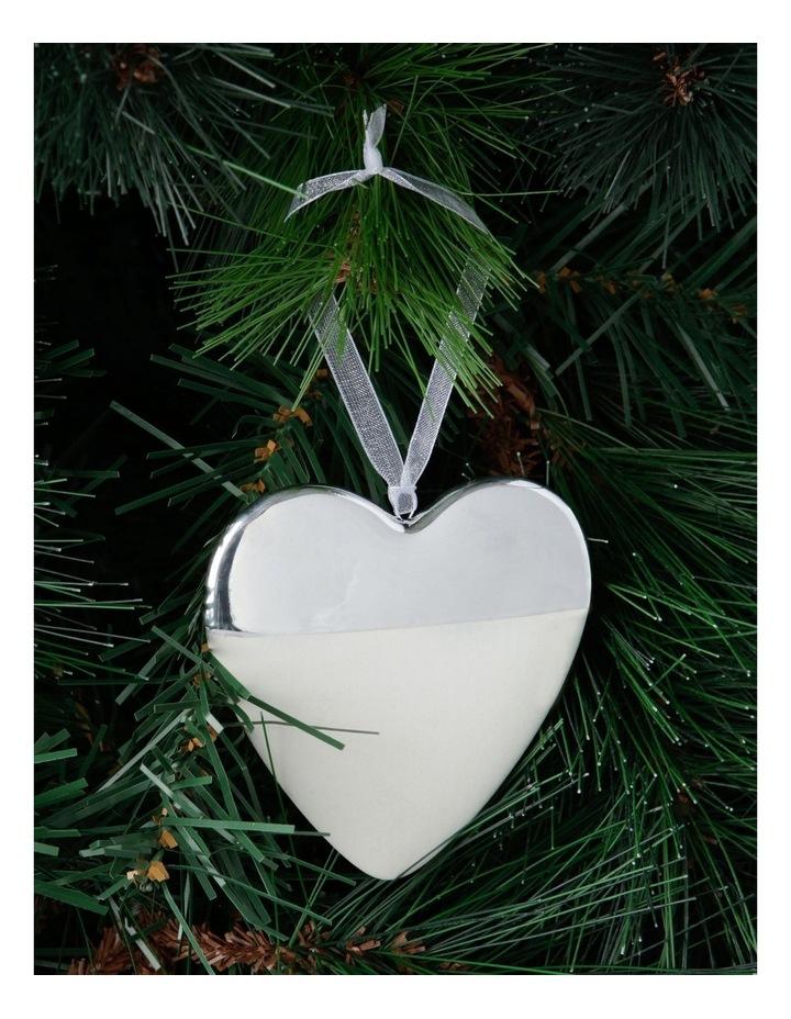 Eucalyptus Ceramic Half-Dipped Heart Hanging Ornament image 2