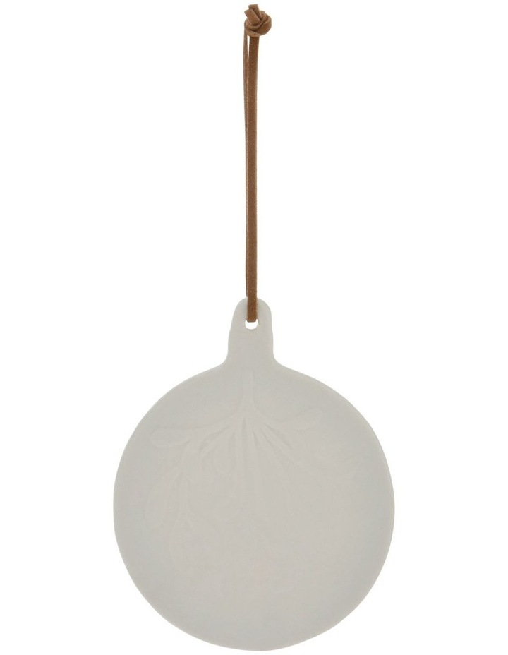Eucalyptus White Ceramic Mistletoe Bauble Hanging Ornament image 1