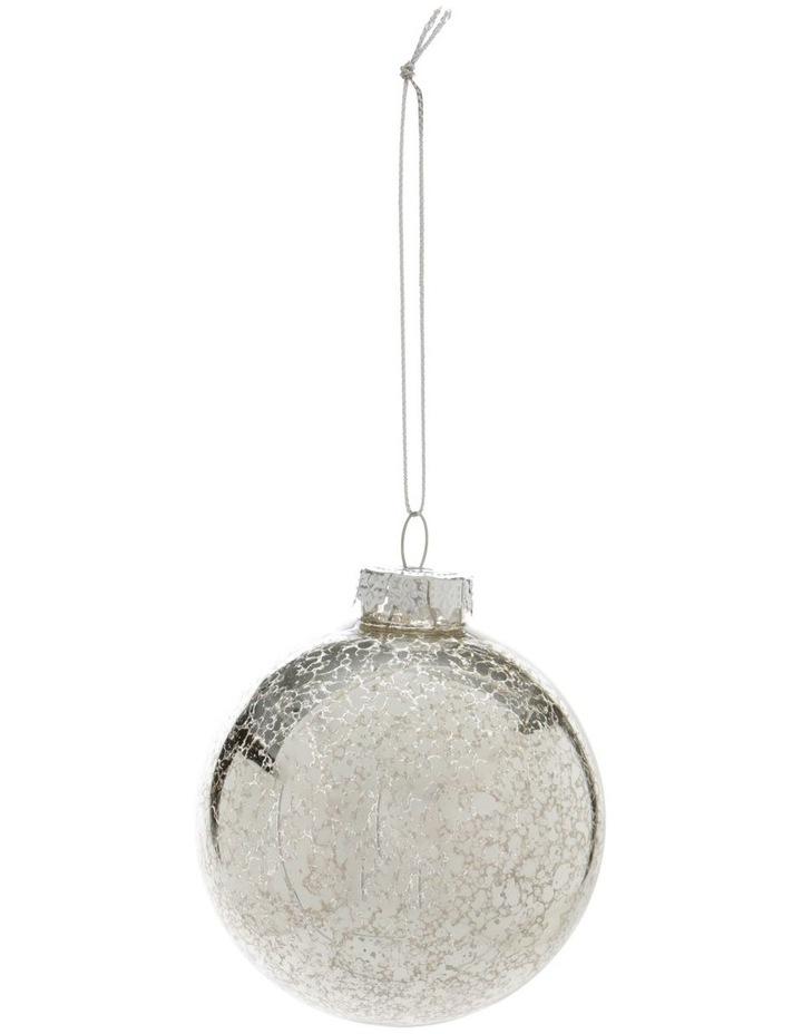 Eucalyptus Silver Mercurised Glass Bauble image 1