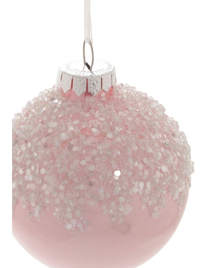 Luxe Pink Dripped Beaded Bauble image 2