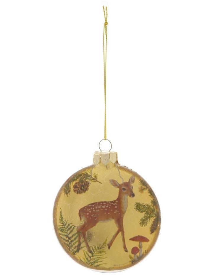 Heirloom Assorted Gold Deer & Cardinal Disc Hanging Ornament image 1