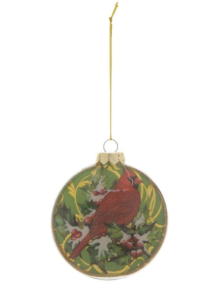 Heirloom Assorted Gold Deer & Cardinal Disc Hanging Ornament image 2