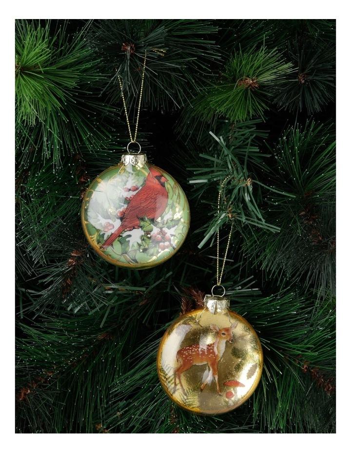 Heirloom Assorted Gold Deer & Cardinal Disc Hanging Ornament image 3