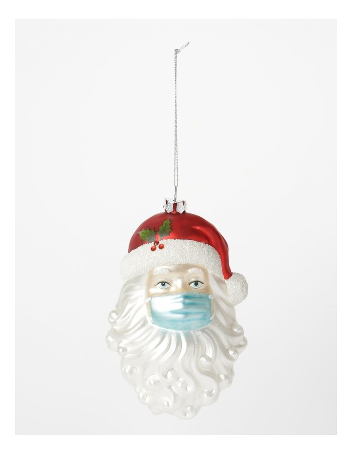 Santa Face with Mask Hanging Ornament image 1