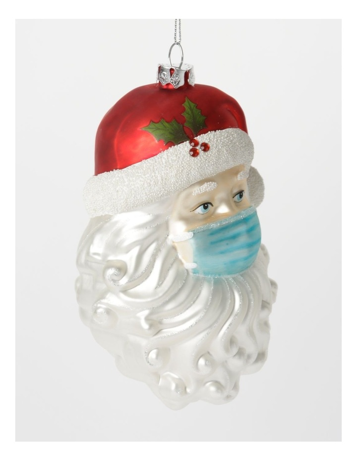 Santa Face with Mask Hanging Ornament image 2