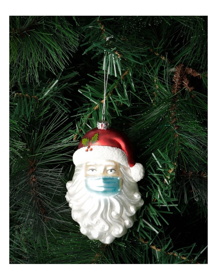 Santa Face with Mask Hanging Ornament image 3