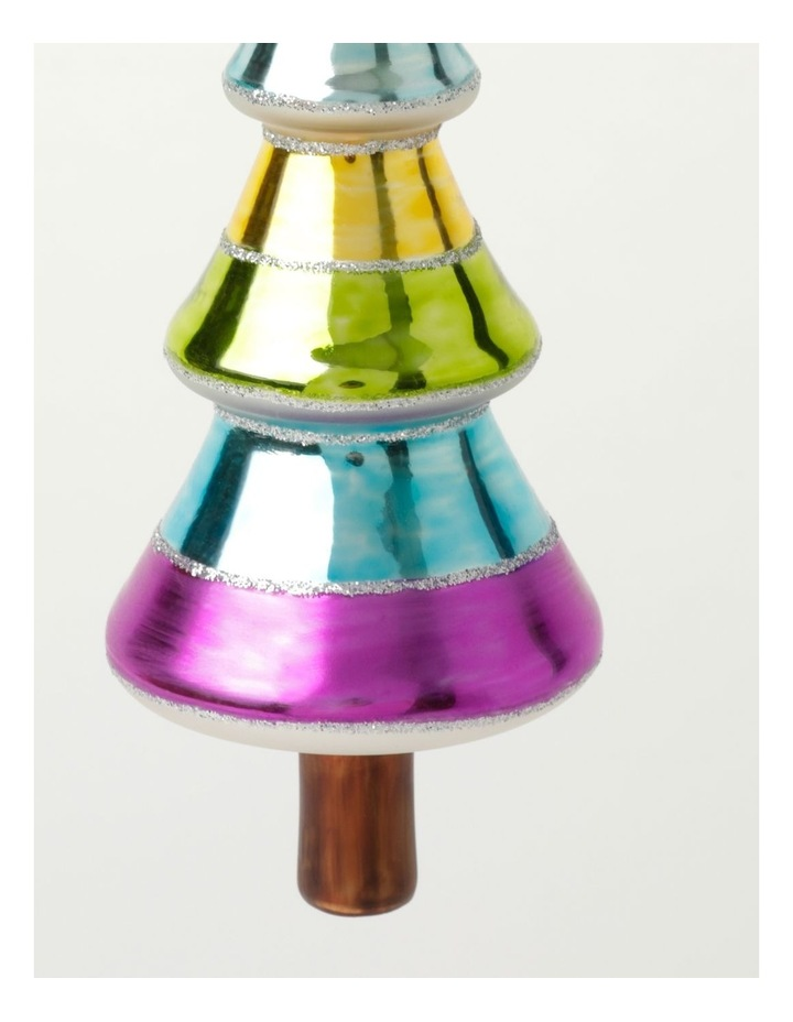 Merry & Bright Glass Rainbow Tree Ornament- Multi: 14cm image 3
