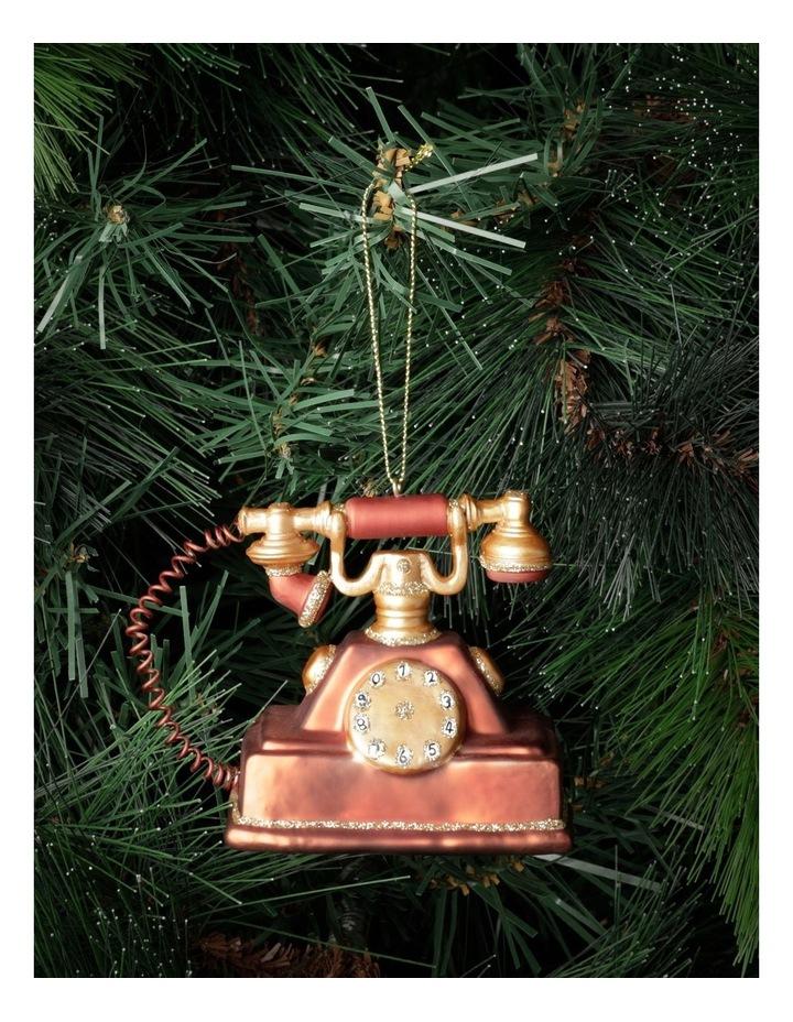Heirloom Glass Vintage Telephone Ornament- Red: 9cm image 1