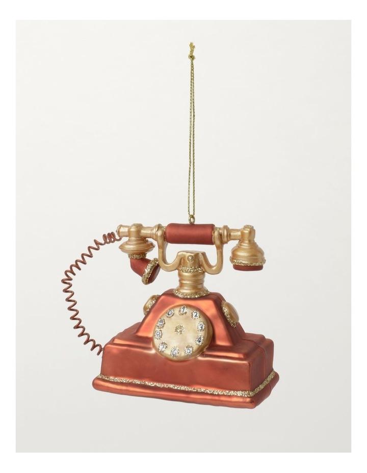 Heirloom Glass Vintage Telephone Ornament- Red: 9cm image 2