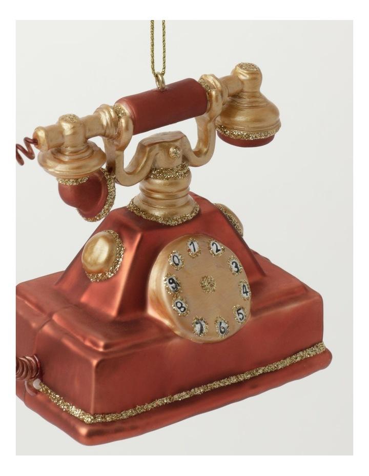 Heirloom Glass Vintage Telephone Ornament- Red: 9cm image 3