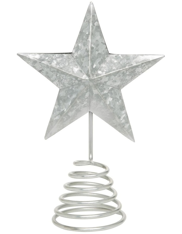 Eucalytpus Silver Metal Star Tree Topper image 1