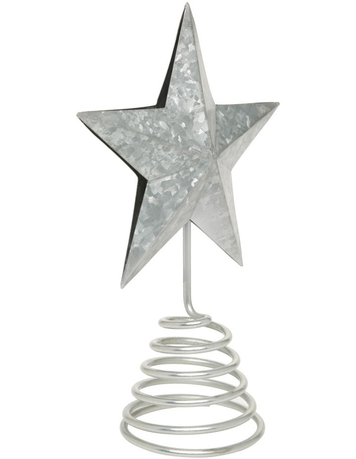 Eucalytpus Silver Metal Star Tree Topper image 2