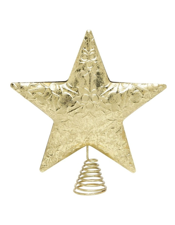 Heirloom Embossed Gold Star Tree-Topper image 1