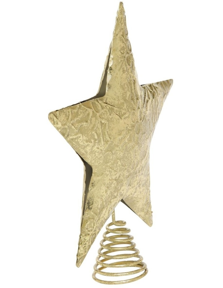 Heirloom Embossed Gold Star Tree-Topper image 2