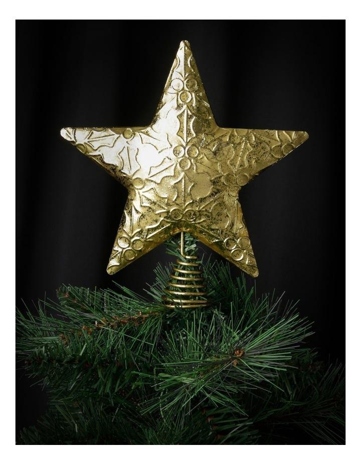 Heirloom Embossed Gold Star Tree-Topper image 3