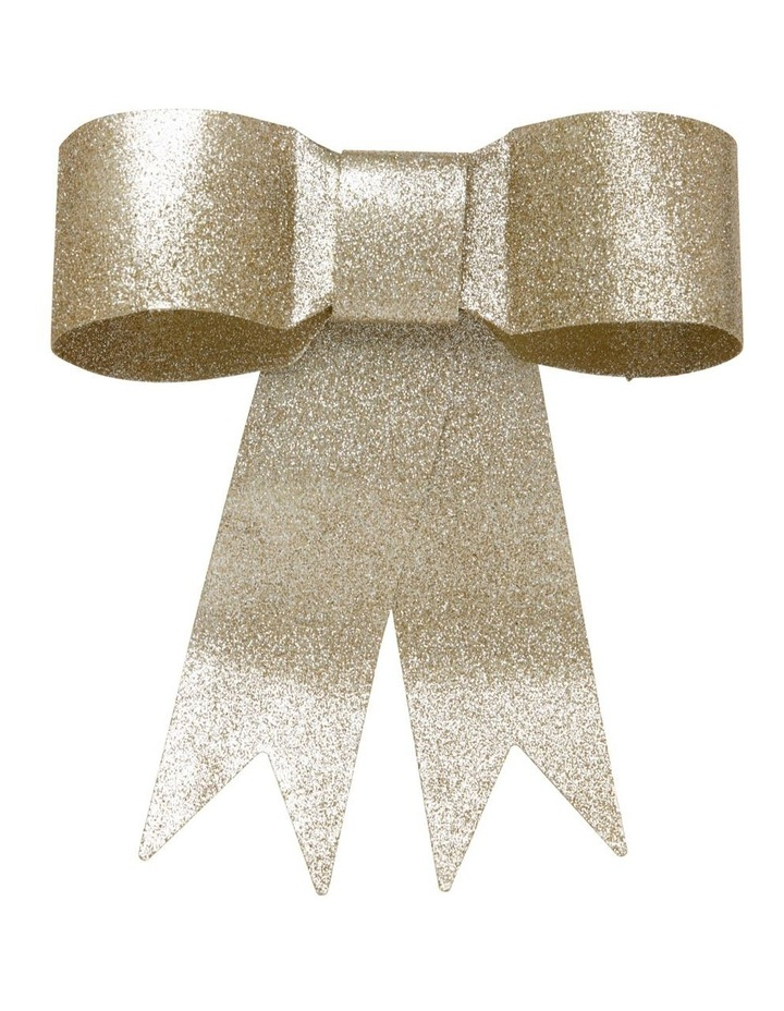 Luxe Metal Ribbon Bow Tree-Topper in Gold-Tone image 1