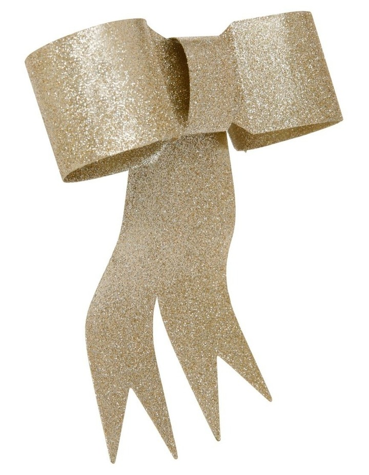 Luxe Metal Ribbon Bow Tree-Topper in Gold-Tone image 2
