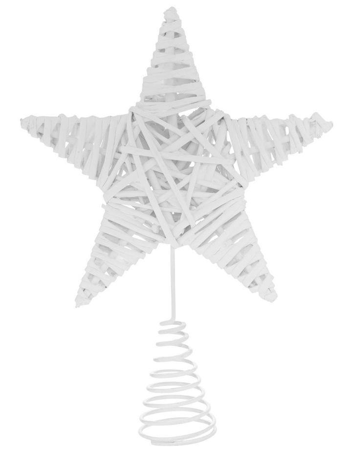 Eucalyptus White Faux Willow Star Tree-Topper image 1