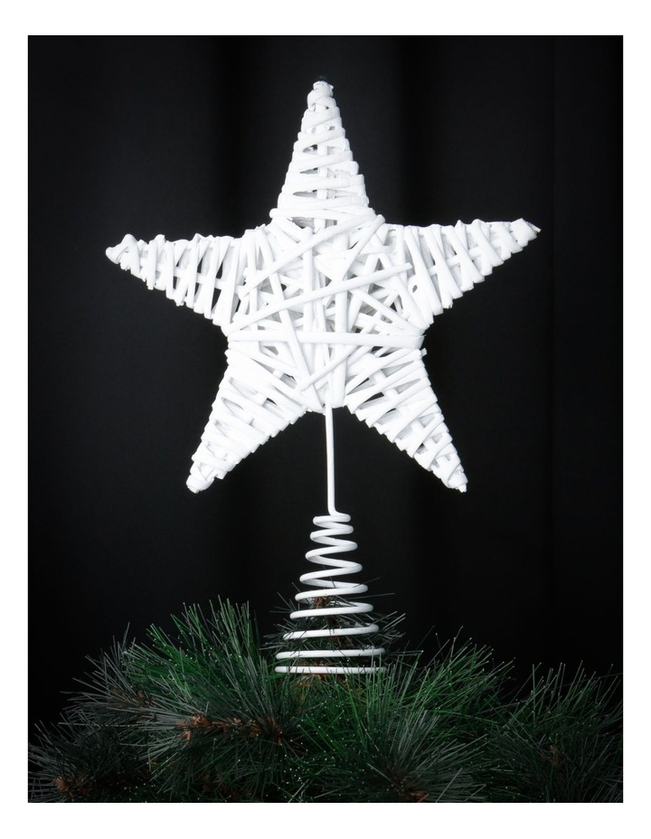 Eucalyptus White Faux Willow Star Tree-Topper image 3