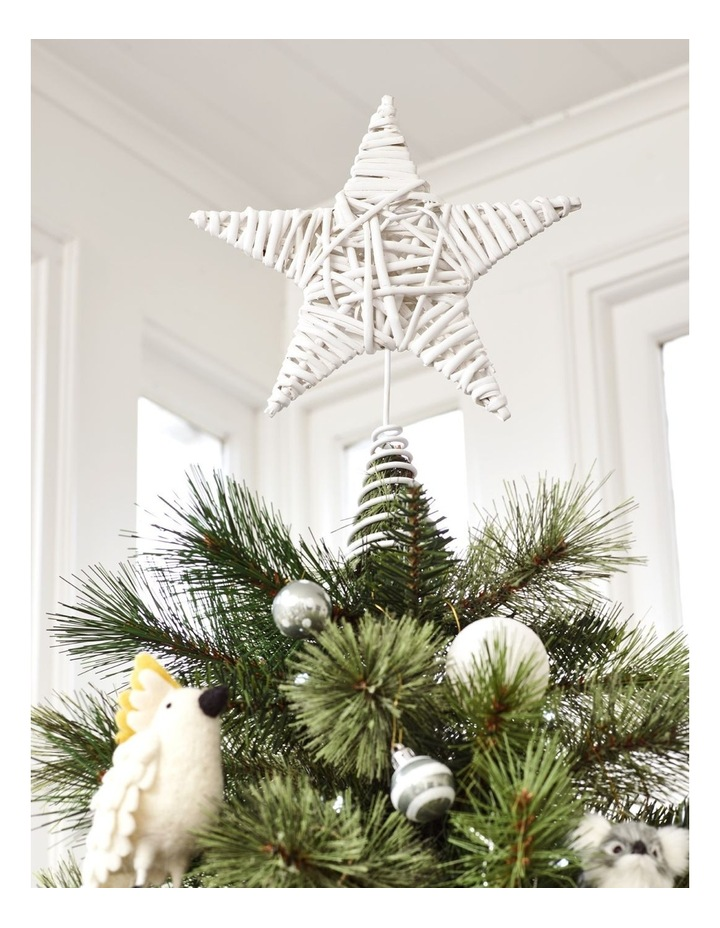 Eucalyptus White Faux Willow Star Tree-Topper image 4