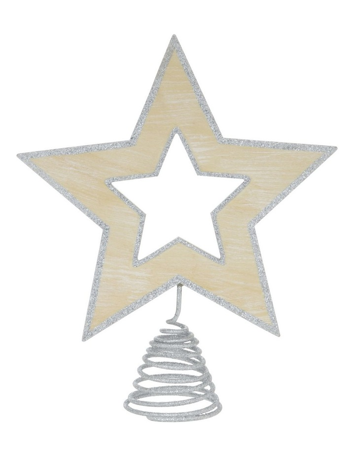 Eucalyptus Silver Star Tree-Topper with Glittered Edge image 1