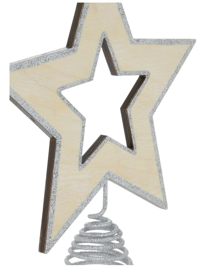 Eucalyptus Silver Star Tree-Topper with Glittered Edge image 3