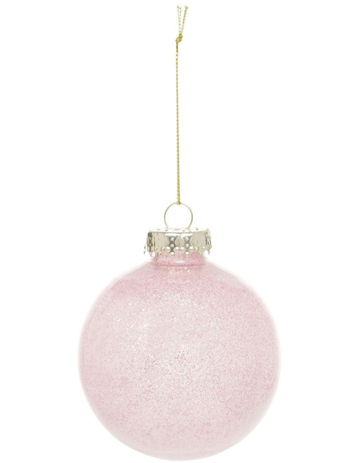 Eucalyptus Lilac Baubles with Glitter Feature - Set of 6 image 2