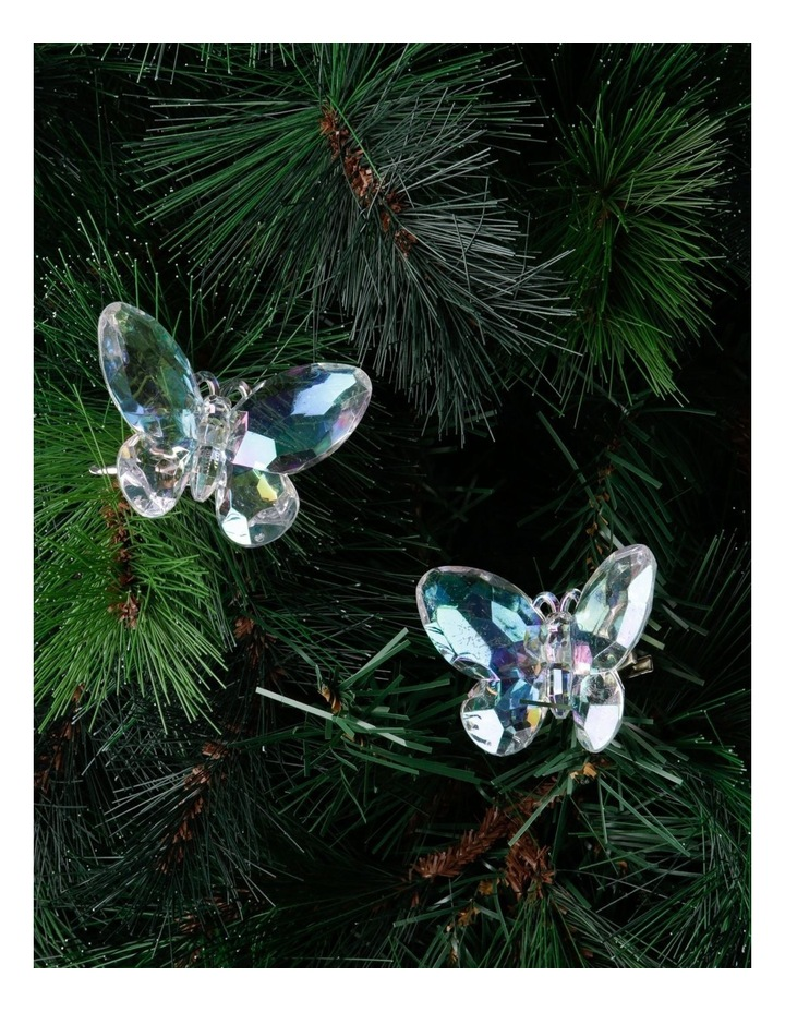 Luxe Clear Set of 4 Butterfly Clip Decorations image 2