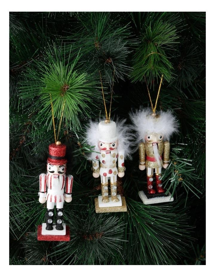 Heirloom Set of 3 Wooden Nutcraker Ornaments image 2